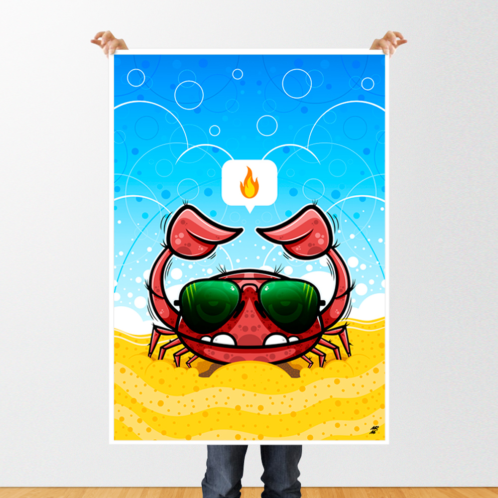 Spicy. Poster print. mockup.