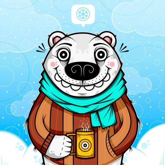 Polar_bear. Poster print. image.